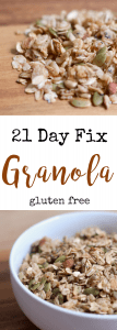21 Day Fix Granola | Confessions of a Fit Foodie