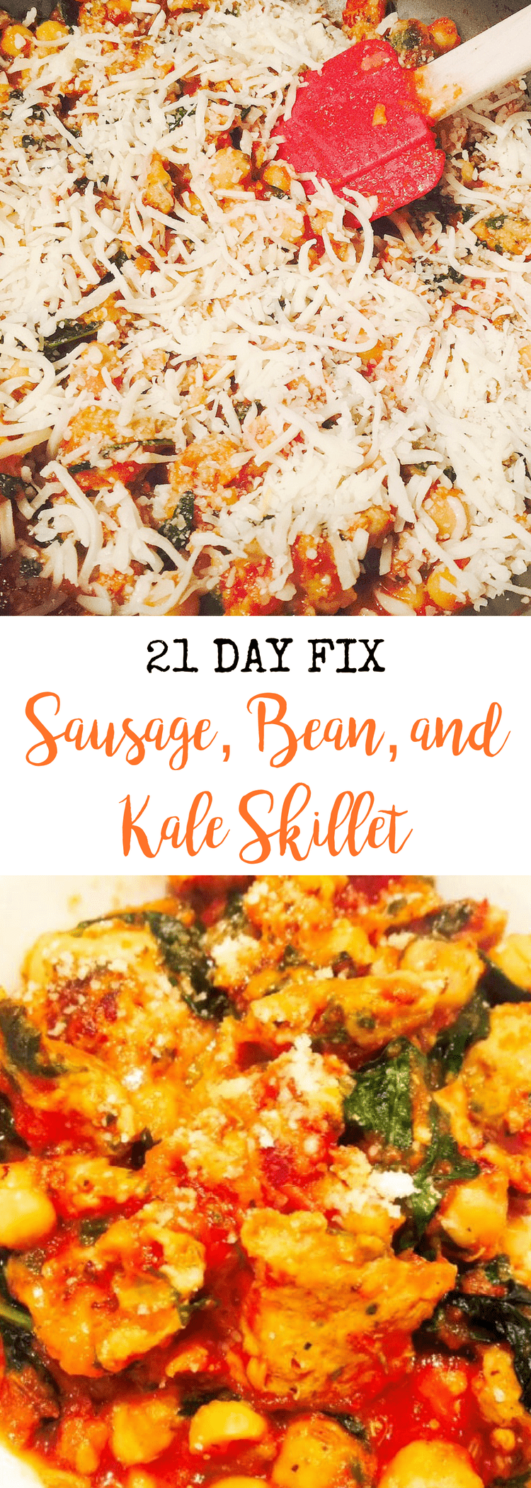 21 Day Fix Sausage, Bean, and Kale Skillet | Confessions of a Fit Foodie