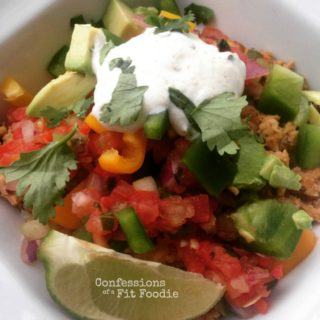 21 Day Fix Burrito Bowl and Cilantro Lime Yogurt Sauce