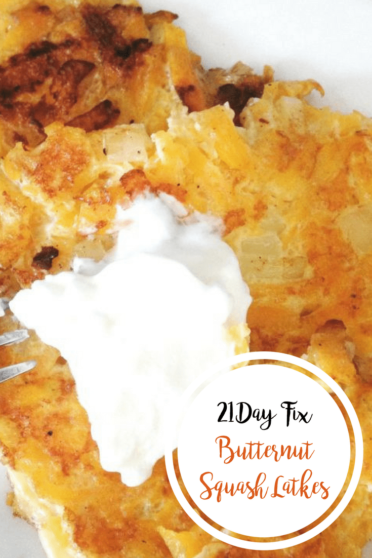 Butternut Squash Latkes {21 Day Fix} | Confessions of a Fit Foodie