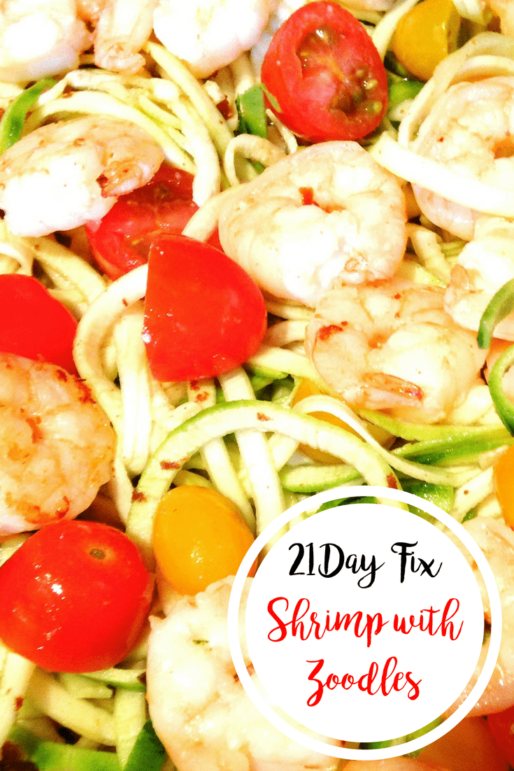 Shrimp with Zoodles {21 Day Fix} | Confessions of a Fit Foodie