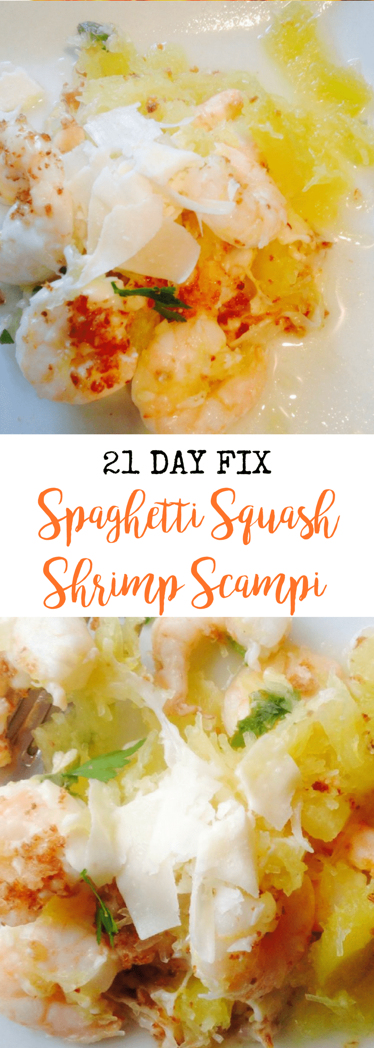 Spaghetti Squash Shrimp Scampi {21 Day Fix} | Confessions of a Fit Foodie