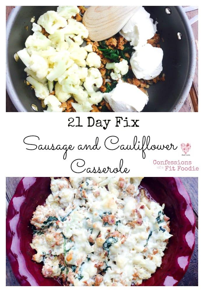 21 Day Fix Sausage and Cauliflower Pinterest