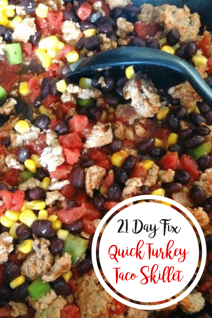 21 Day Fix Quick Turkey Taco Skillet from Confessions of a Fit Foodie