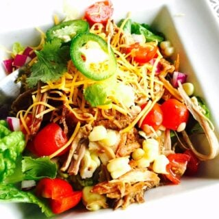 Crock Pot pork carnitas, made the 21 Day Fix way, are healthy, easy to make, and oh so delicious! Get the recipe from Confessions of a Fit Foodie