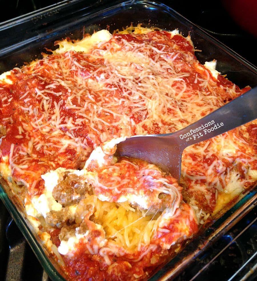 21 Day Fix Spaghetti Squash Lasagna - Confessions of a Fit ...