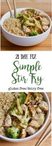 21 Day Fix Chicken and Veggie Stir Fry   Confessions of a Fit Foodie