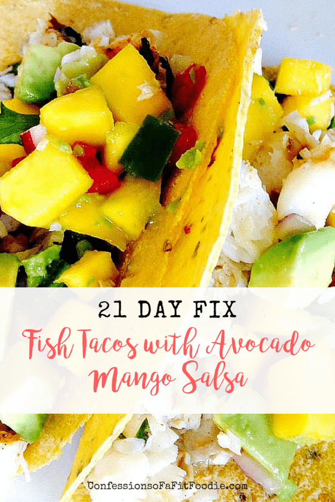 21 Day Fix Fish Tacos with Mango Salsa