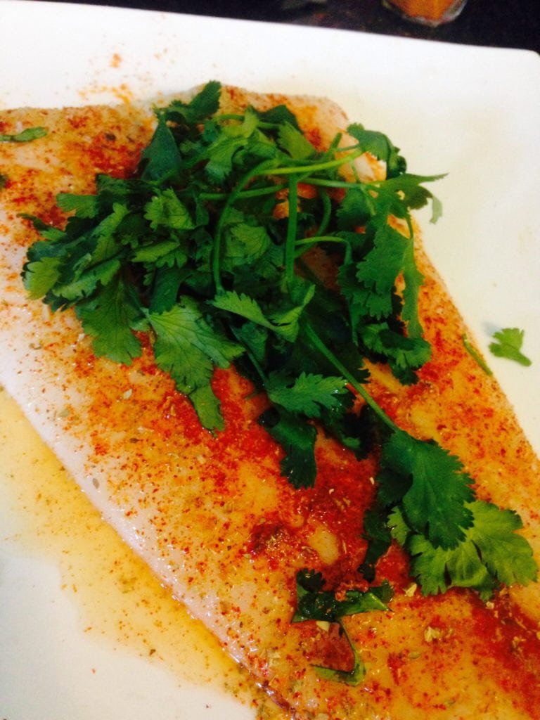 fresh turbot, used to create Fish Tacos with Avocado Mango Salsa | Confessions of a Fit Foodie