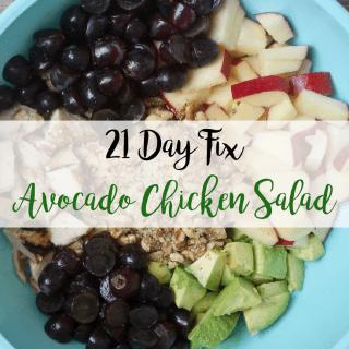 Avocado Chicken Salad {21 Day Fix}