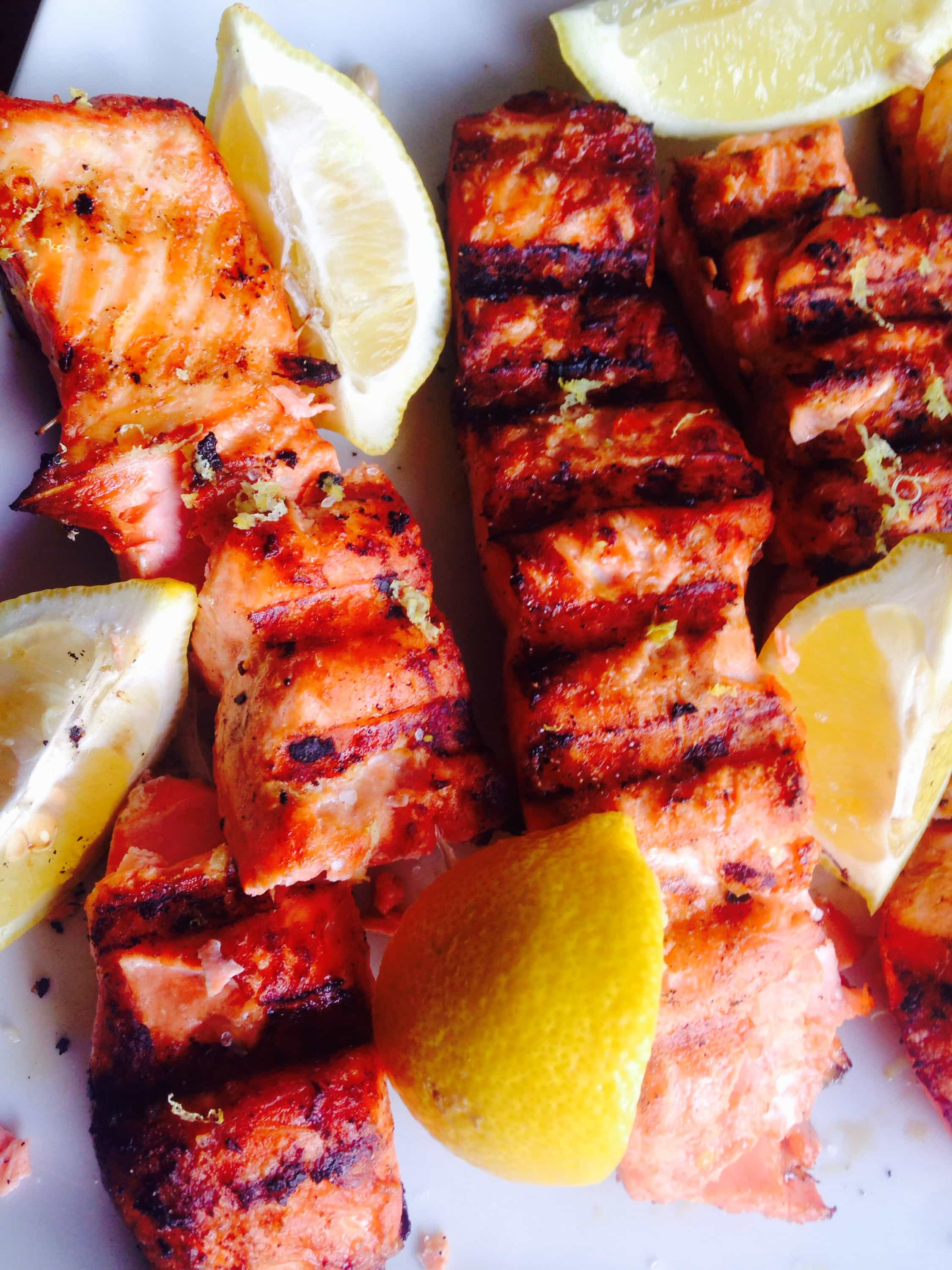 Lemon Grilled Salmon {21 Day Fix} - A healthy recipe from Confessions of a Fit Foodie