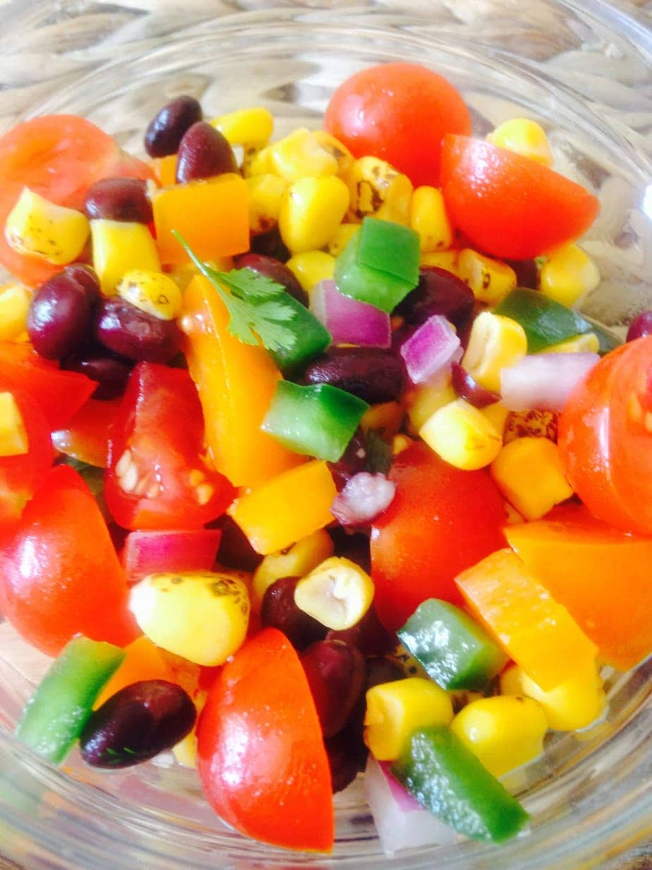 Roasted Corn and Black Bean Salad - a 21 Day Fix recipe from Confessions of a Fit Foodie