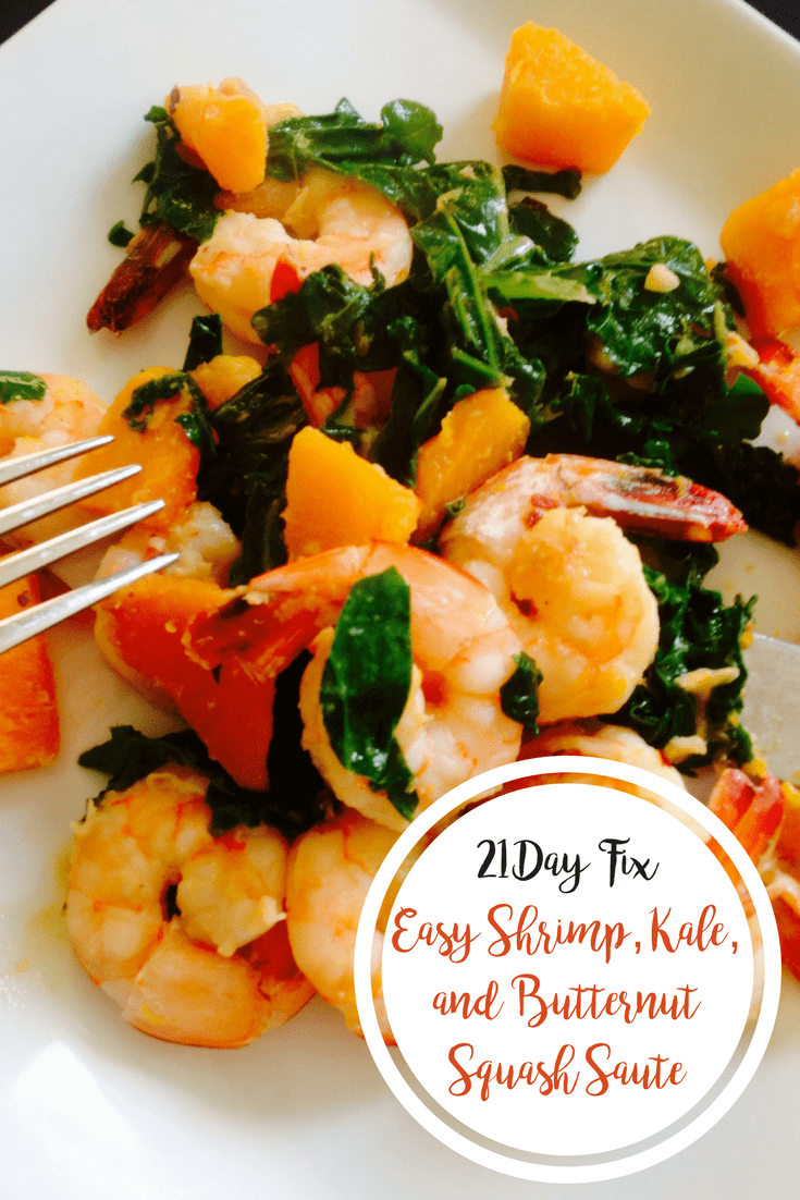 Easy Shrimp, Kale, and Butternut Squash Saute {21 Day Fix}   Confessions of a Fit Foodie