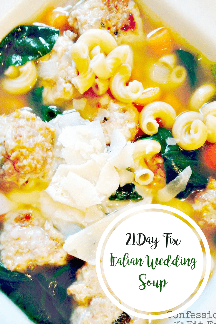 Italian Wedding Soup {21 Day Fix} | Confessions of a Fit Foodie