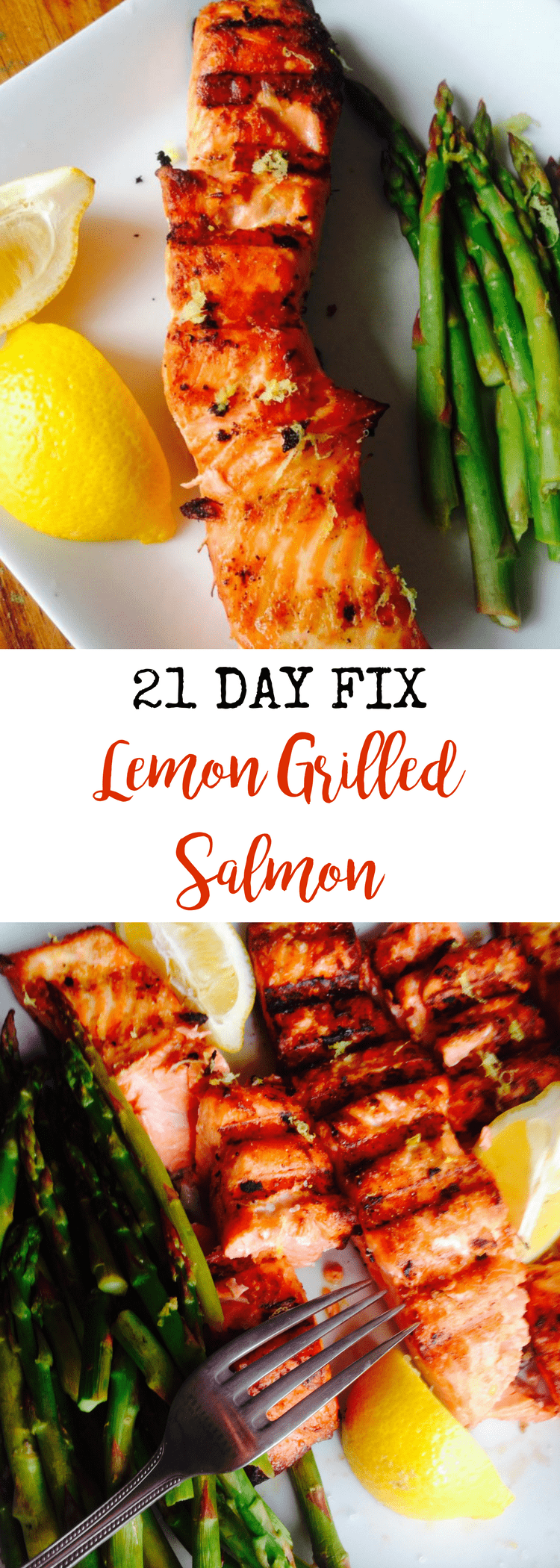 Lemon Grilled Salmon {21 Day Fix} | Confessions of a Fit Foodie