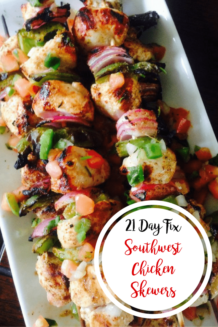 Southwest Chicken Skewers {21 Day Fix} | Confessions of a Fit Foodie