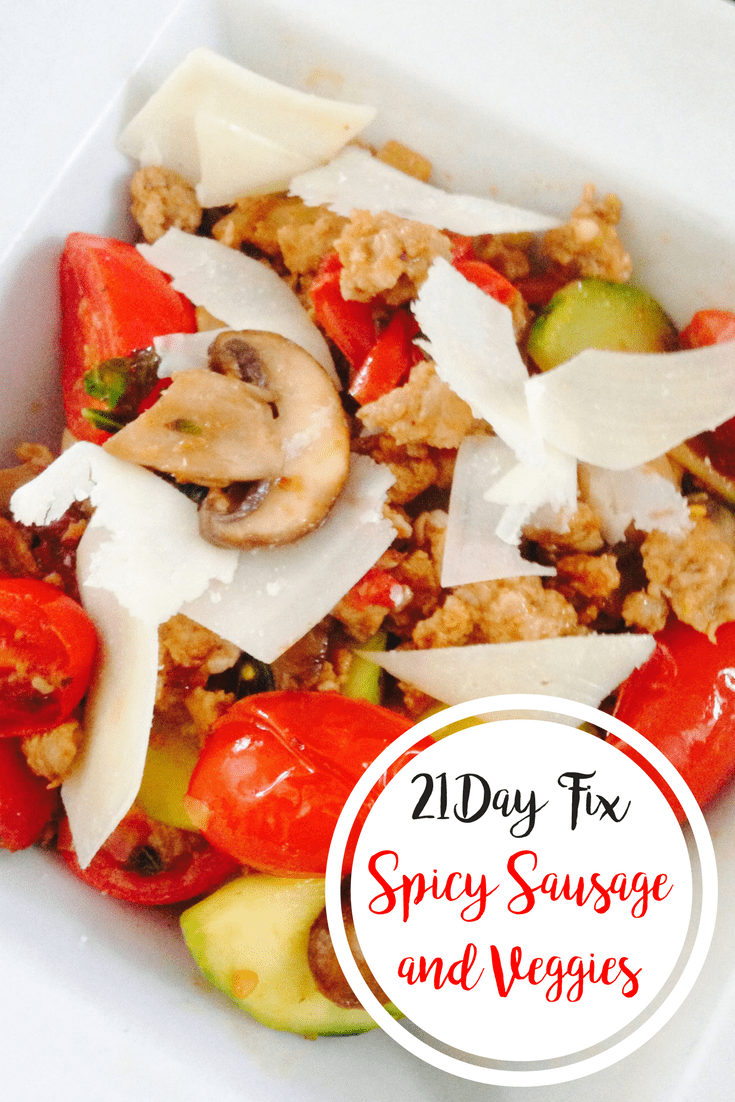 Spicy Sausage and Veggies {21 Day Fix} | Confessions of a Fit Foodie