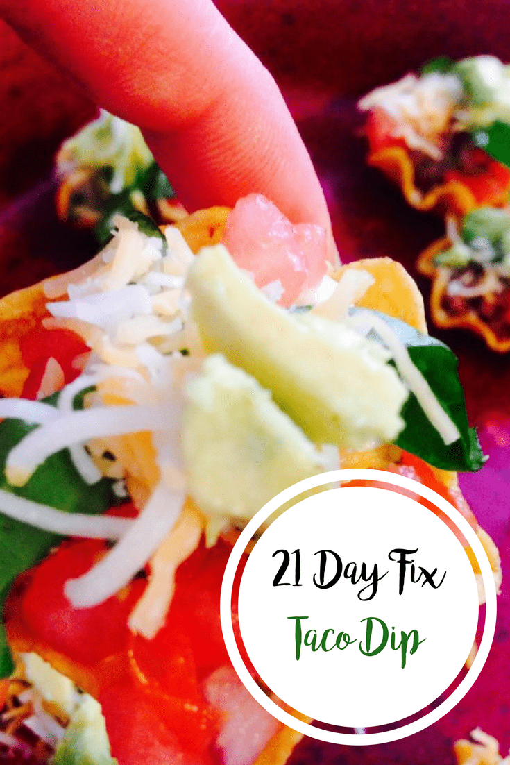 Taco Dip - Scoops Too! {21 Day Fix} | Confessions of a Fit Foodie