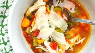 Easy 21 Day Fix Chicken Veggie Soup {Stovetop, Instant Pot, Slow Cooker}