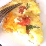 Summer Garden Vegetable Frittata - a 21 Day Fix recipe on ConfessionsOfAFitFoodie.com