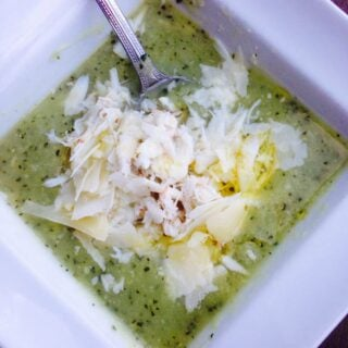 21 Day Fix Zucchini Soup with Jumbo Lump Crab (Instant Pot Option)