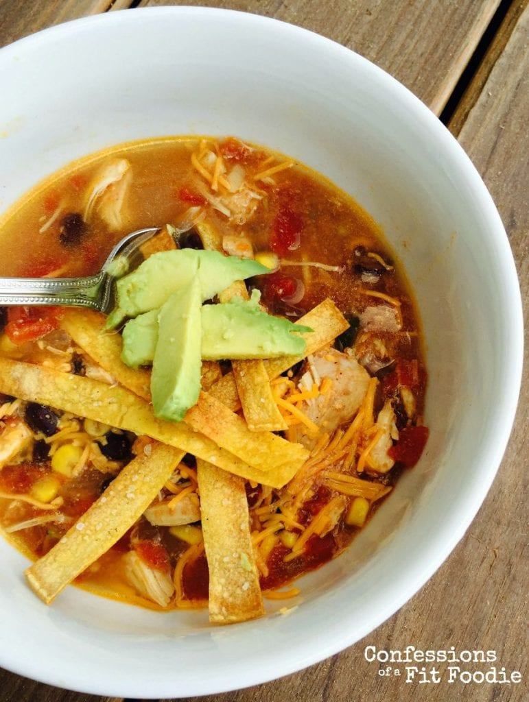 Crock Pot Chicken Tortilla Soup {21 Day Fix Recipe} - Confessions of a Fit Foodie