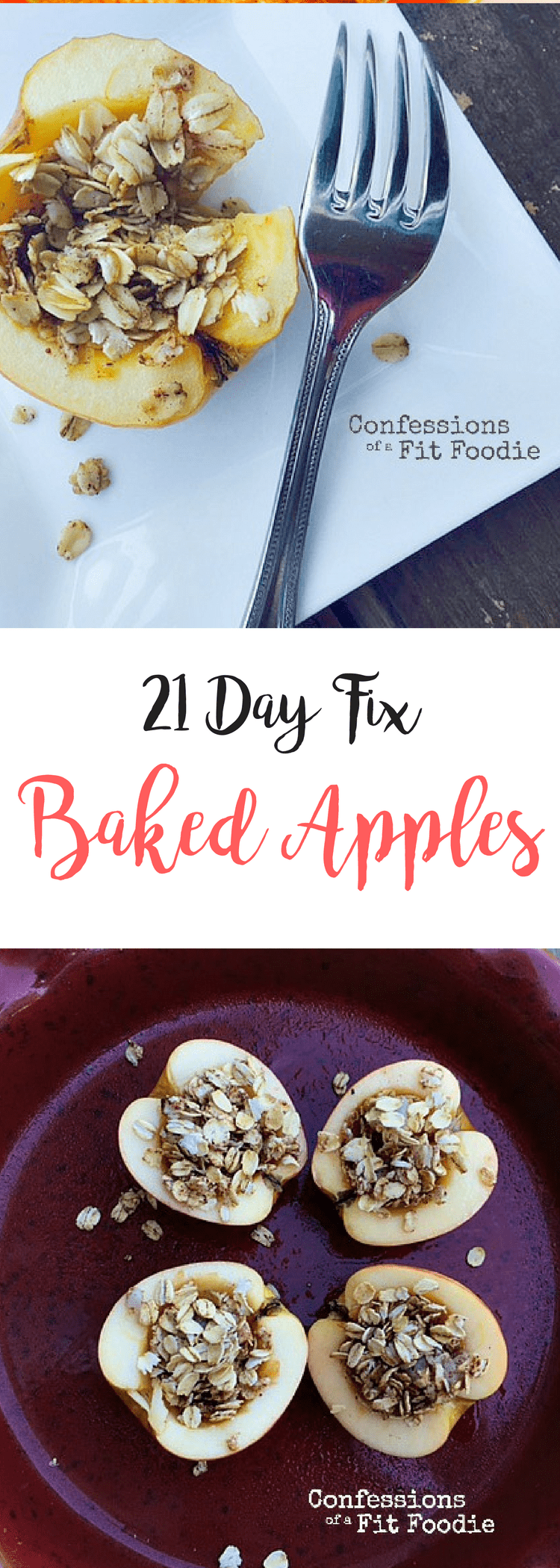 Baked Apples {21 Day Fix} | Confessions of a Fit Foodie