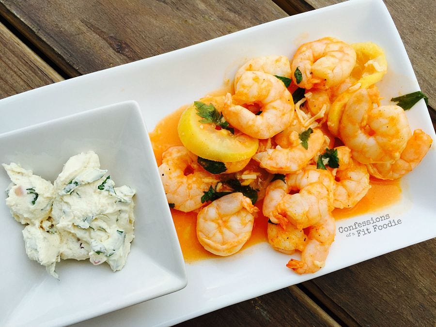 Baked Buffalo Shrimp w/ Goat Cheese Sauce {21 Day Fix} - Confessions ...
