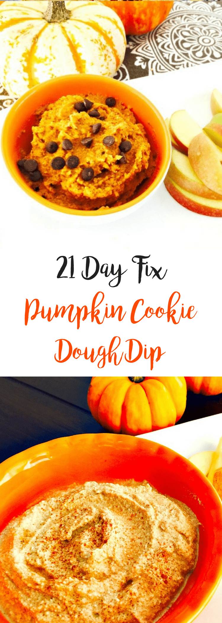No Bake Pumpkin Cookie Dough Dip {21 Day Fix} | Confessions of a Fit Foodie