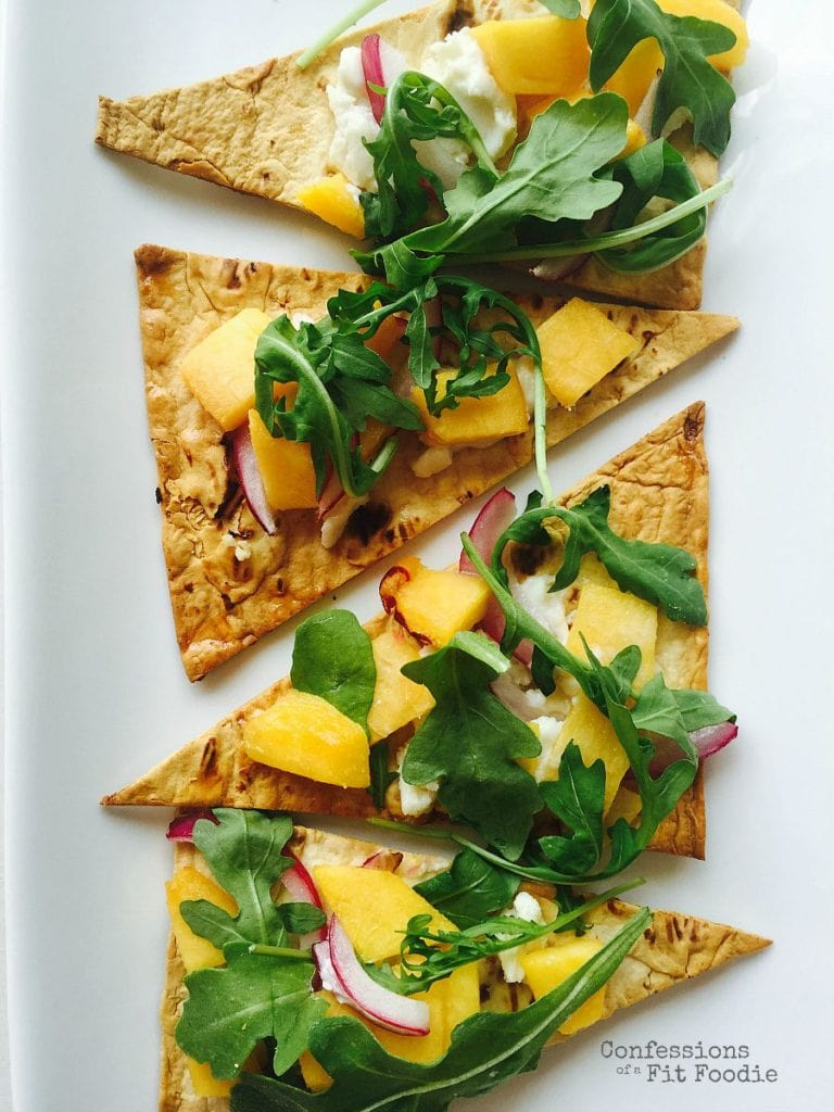Peach and Goat Cheese Pizza