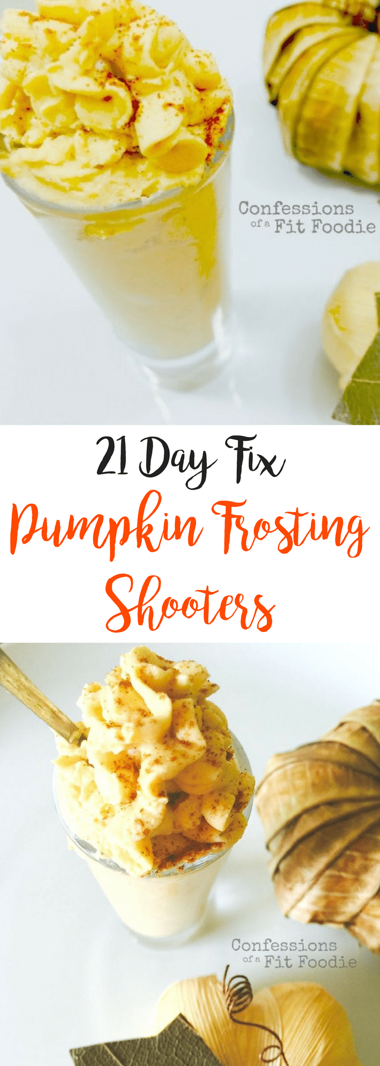 Pumpkin Frosting Shooters {21 Day Fix} | Confessions of a Fit Foodie