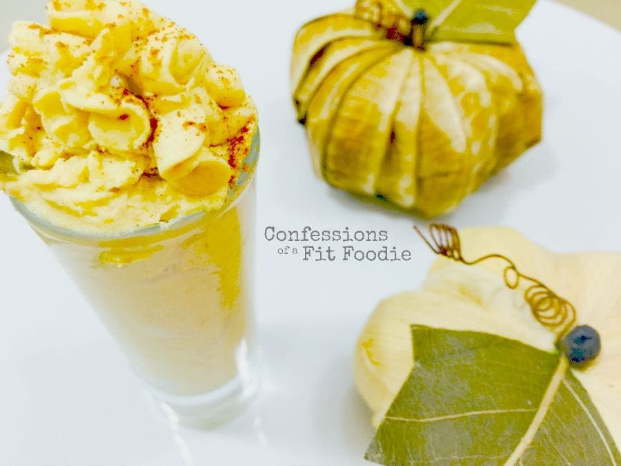 Pumpkin Frosting Shooters - a 21 Day Fix treat recipe from Confessions of a Fit Foodie