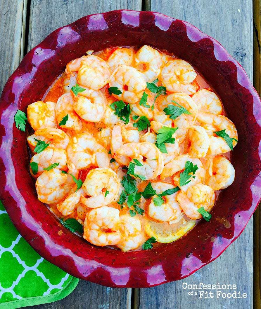 Baked Buffalo Shrimp with Goat Cheese Sauce {21 Day Fix Recipe ...