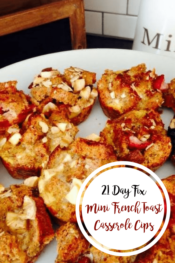 21 Day Fix Mini French Toast Casserole Cups | Confessions of a Fit Foodie