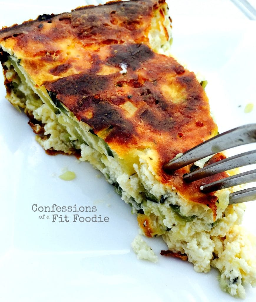 Crustless Zucchini Quiche - a 21 Day Fix approved recipe
