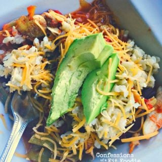 Slow Cooker Chicken Fajitas are a 21 Day Fix recipe from Confessions of a Fit Foodie