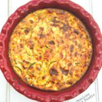 Crustless Zucchini Quiche - A 21 Day Fix recipe, from Confessions of a Fit Foodie
