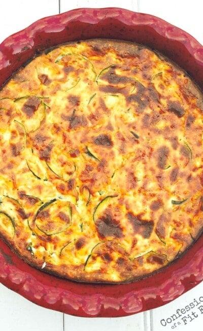 Crustless Zucchini Quiche - A 21 Day Fix recipe, from Confessions of a Fit Foodie