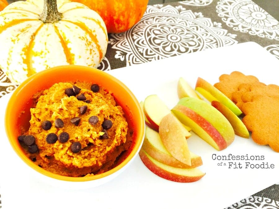 No Bake Pumpkin Cookie Dough Dip {21 Day Fix Recipe}