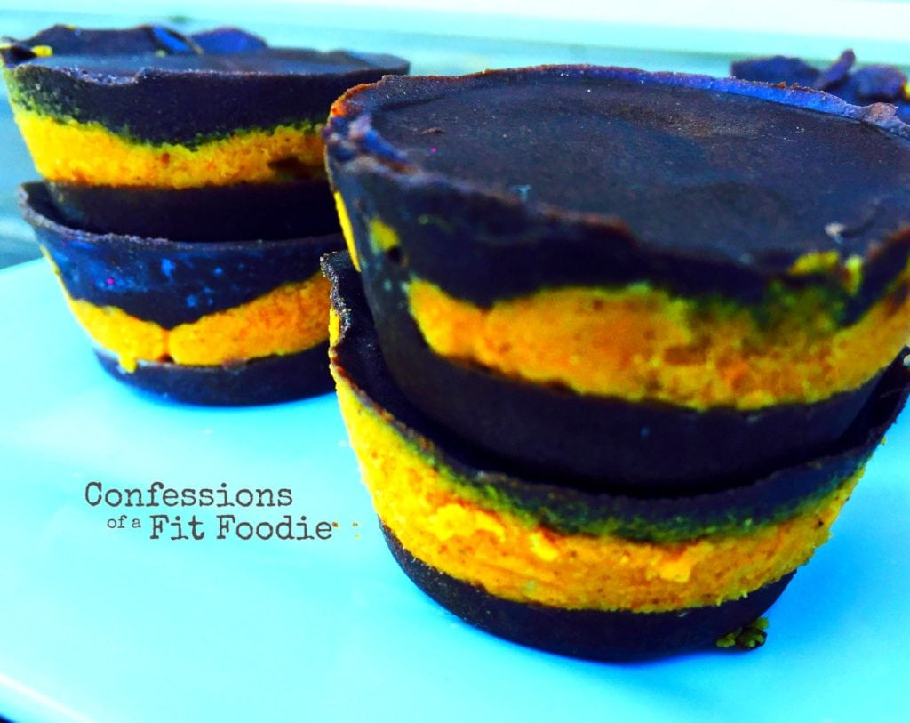 Chocolate Pumpkin Cups recipe is inspired by the Shakeology peanut butter cups. It's a 21 Day Fix recipe on Confessions of a Fit Foodie.