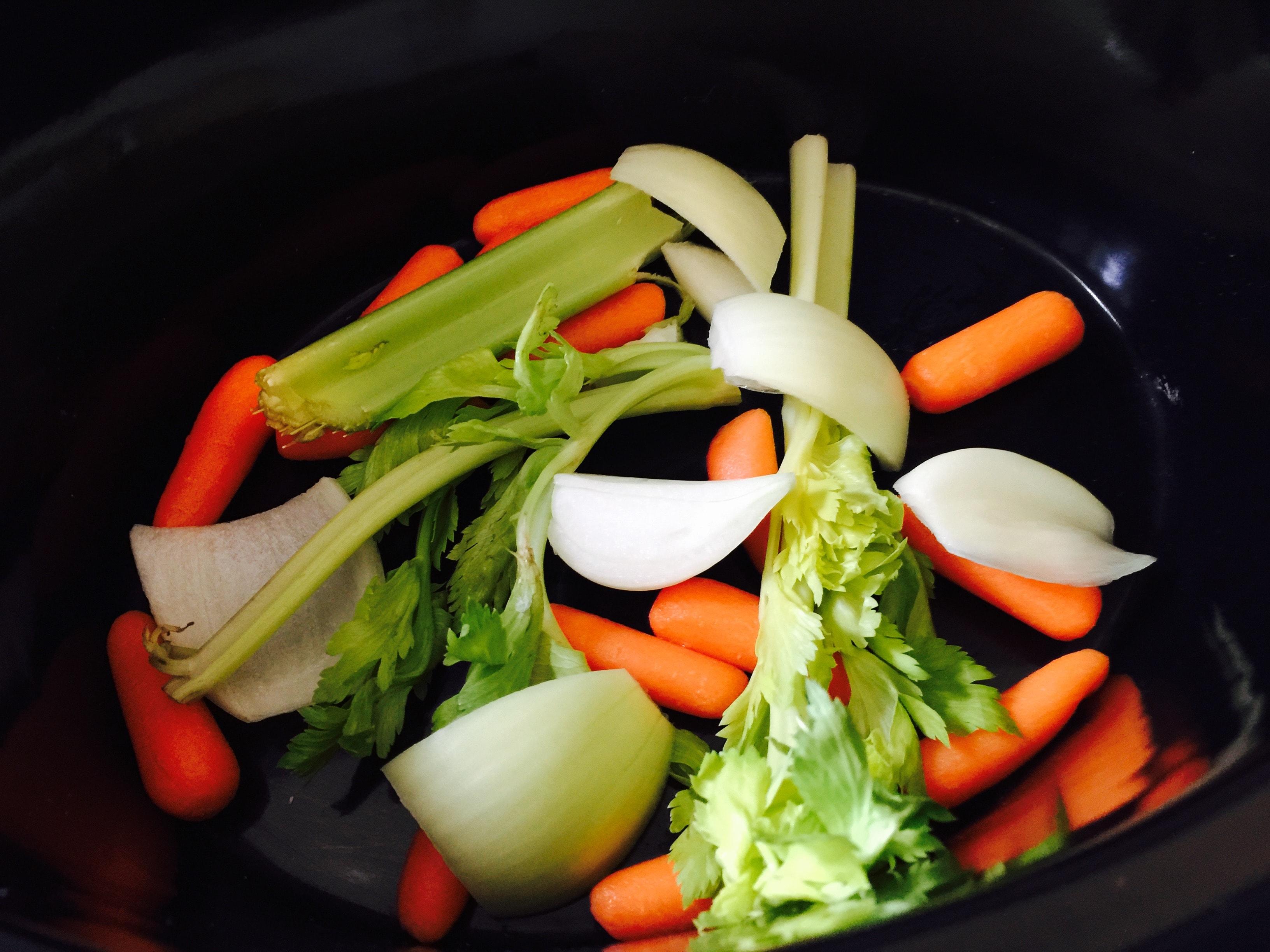 vegetables needed to make homemade turkey stock