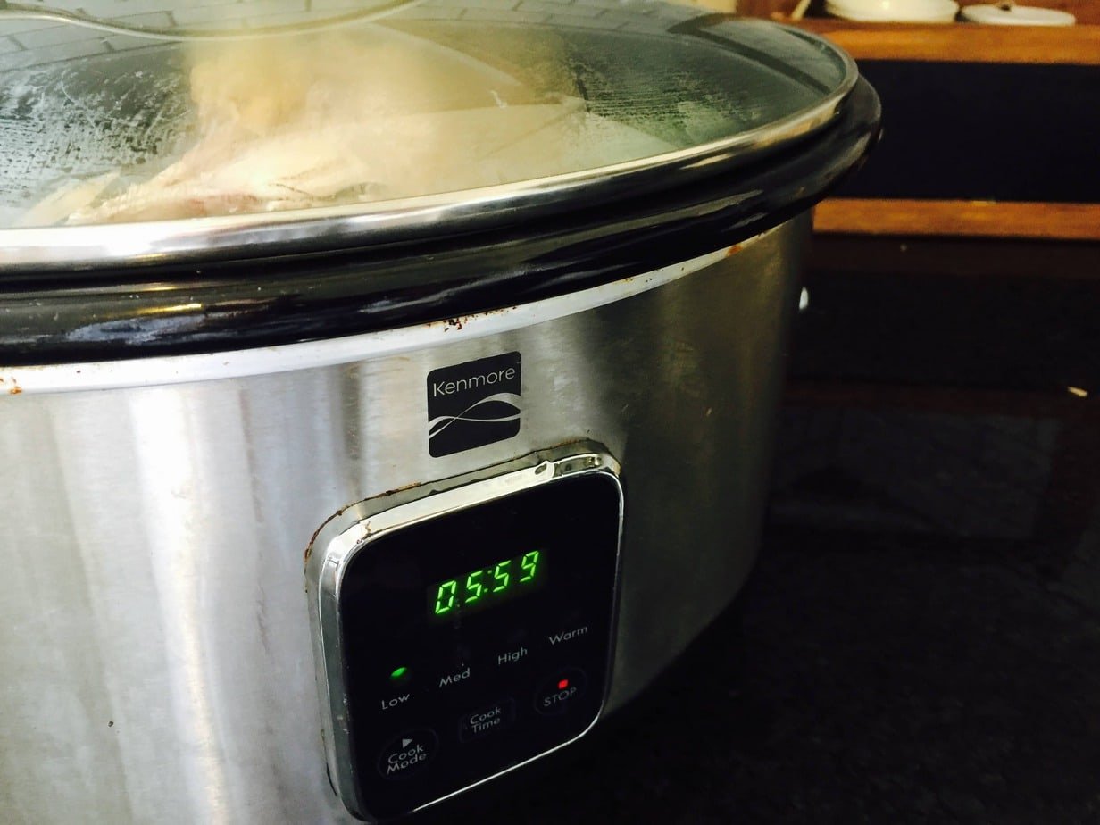 Making Homemade Turkey Stock in a Crock Pot