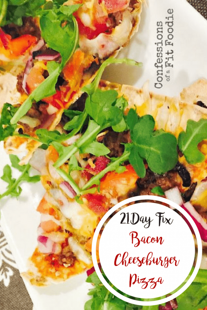 21 Day Fix Bacon Cheeseburger Pizza | Confessions of a Fit Foodie