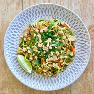 21 Day Fix Chicken Pad Thai Zoodles (Low Carb/Gluten Free/ Dairy Free)