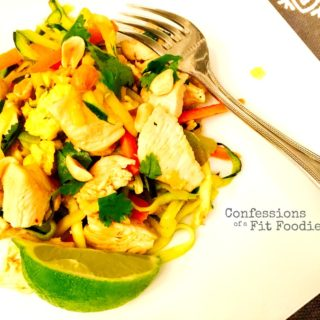 Chicken Pad Thai Zoodles {21 Day Fix}