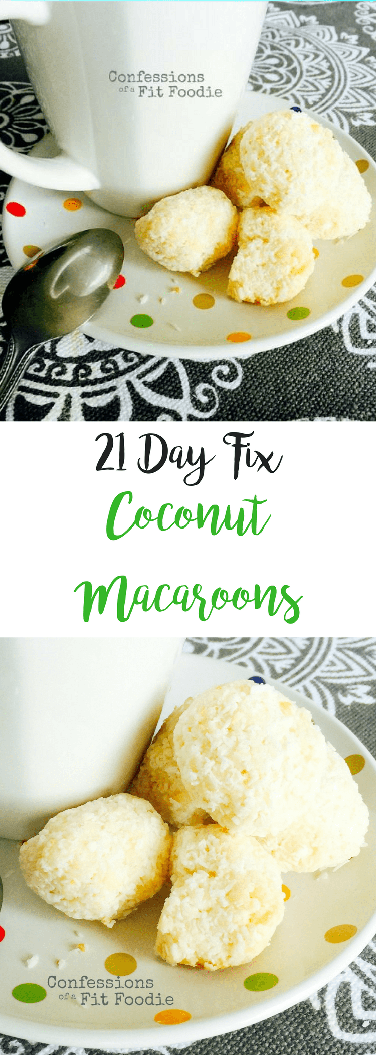Coconut Macaroons {21 Day Fix} | Confessions of a Fit Foodie