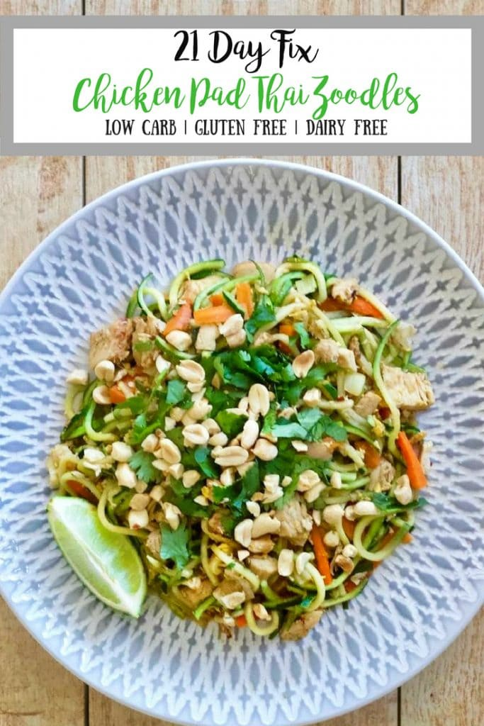 21 Day Fix Chicken Pad Thai Zoodles| Confessions of a Fit Foodie