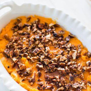 Healthy Sweet Potato Casserole | 21 Day Fix Sweet Potato Casserole [Gluten-free|Dairy-free|Paleo]