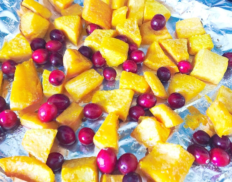 butternut squash and fresh cranberries