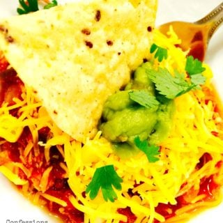 Crock Pot Chili Chicken {21 Day Fix}